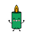 birthday candle isolated cute kawaii cartoon vector image
