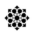 black arabesque ornament vector image vector image