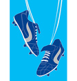 Blue football shoes vector image