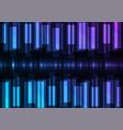 blue speed bar overlap in dark background vector image vector image