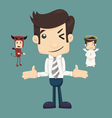 Businessman wills with devil and an angel vector image vector image