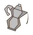 cartoon kettle coffee tea cookware vector image vector image