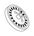 casino wheel icon vector image vector image