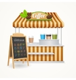 Coffee Street Market Set vector image