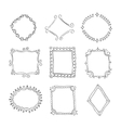 collection decorative loop frames vector image