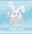 colorful happy easter template vector image