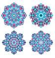 Colorful mandalas in oriental style vector image vector image