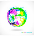 colorful splash ball abstract brush effect vector image