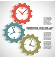 concept timeline icons clock on gear vector image