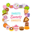 creative banner with cakes vector image