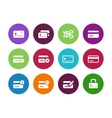 Credit card circle icons on white background vector image vector image