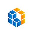 cube square 3d business logo