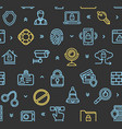 data security and safe pattern background vector image