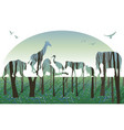 double exposure wildlife concept vector image