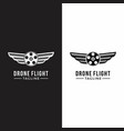 drone wing graphic cinema photography logo vector image vector image