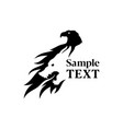 eagle and wolf silhouette negative space icon vector image vector image