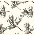 evergreen tree pattern vintage new year vector image vector image