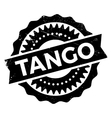 Famous dance style tango stamp vector image vector image
