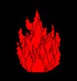 fire symbol isolated flame on black background vector image vector image