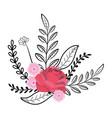 flowers wreath cartoon vector image