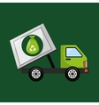 garbage truck recycle icon design vector image