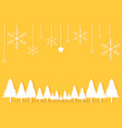 gold yellow christmas day paper postcard vector image vector image