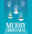 greeting card and christmas vector image vector image