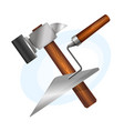 hammer and trowel tool vector image