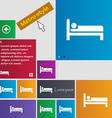 Hotel icon sign buttons Modern interface website vector image vector image