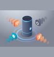 intelligent smart speaker voice recognition vector image