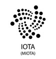 iota cryptocurrency symbol vector image vector image