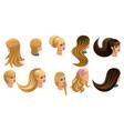 isometric beautiful hairstyles stylish haircut vector image