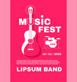 jazz fest live music poster template concert vector image vector image