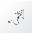 kites icon line symbol premium quality isolated vector image vector image