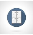 Lockers for stuff flat round icon vector image vector image