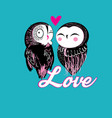 lovers funny owl vector image vector image