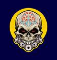 mexican sugar skull dia de los muertos vector image vector image
