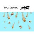 mosquito larva under water vector image
