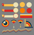 multiple vintage banners and elements and communic vector image