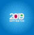 new year 2019 on blue background vector image