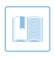 Open book with bookmark icon vector image vector image