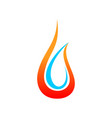 plumbing and heating symbol design vector image