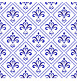 porcelain baroque pattern vector image vector image