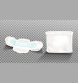 sanitary napkin and blank plastic package clip art vector image vector image