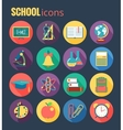 school icon set eps10 vector image vector image