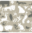 seamless pattern animals vector image