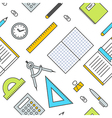 Seamless School Office Supplies Pattern 2 vector image vector image