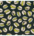 seamless with shelled pistachio nuts isolated on vector image vector image