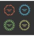 set of hypster outline emblems and frame vector image vector image