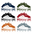 set of mountaim lake resort vector image vector image